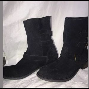Steve Madden suede moto boots